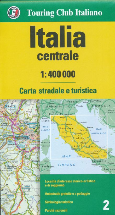 Central Italy TCI 1:400,000